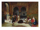 An Oath of Allegiance in the Hall of the Abencerrajes, Alhambra, Granada Giclée-Druck von Filippo Baratti