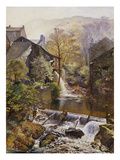 The Old Water-Mill Premium Giclee Print by James Duffield Harding