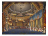 The Music Room. from 'The Royal Pavilion at Brighton' Premium Giclee Print by John Nash