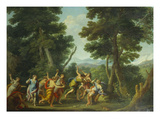 The Death of Orpheus Gicl&#233;e-Druck von Jan Frans and Filippo van Bloemen and Lauri