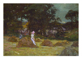Haymaking Poster by Elizabeth Adela Stanhope Forbes