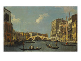 The Cannaregio, Venice, with Palazzo Testa, Palazzo Surian-Bellotto and the Ponte Dei Tre Archi,… Giclee Print by  Canaletto
