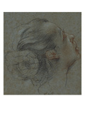 The Head of a Girl in Profile Looking Up to the Right Giclee Print by Francesco Vanni