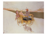 A Country Party or the English Cart; Partie De Campagne Ou La Charrette Anglais Giclee Print by Henri de Toulouse-Lautrec