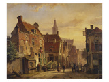 A Dutch Street Scene Prints by Willem Koekkoek