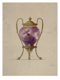A Design for a Mounted Art Nouveau Glass Brule-Parfum Print