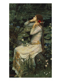 Ophelia Giclee Print by John William Waterhouse