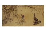 Falcon Hunting Prey Impression giclée par Hua Yan
