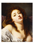 A Young Woman, Bust Length Posters by Jean-Baptiste Greuze