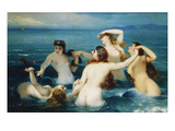 Sirens; Syrenes Reproduction proc&#233;d&#233; gicl&#233;e par Charles Edouard Boutibonne