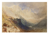 A Scene in the Val D'Aosta Prints by William Turner