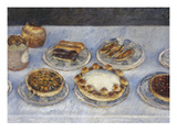Cakes; Gateaux Giclee Print by Gustave Caillebotte