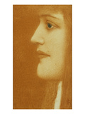 Profile of a Woman; Femme En Profil Prints by Fernand Khnopff