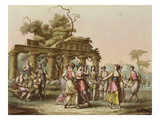 The Dances of Greece; Le Danze Dei Greci Giclee Print by Robustiano Gironi