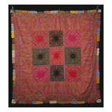 A Square Rumal Shawl, the Field a Chequerboard of Red and Black Squares Giclee Print