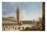 The Piazzetta, Venice, with the Libreria, the Campanile, the Piazza and the Corner of San Marco Giclee Print by Luca Carlevaris (Follower of)