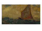 The Mystical Boat; La Barque Mystique Prints by Odilon Redon