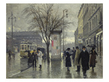 Vesterbrogade, Copenhagen Giclee Print by Paul Fischer