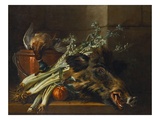 A Dead Mallard, a Boar's Head, Celery and a Copper Pot on a Ledge Prints by Jean-Baptiste Oudry