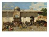Oriental Market; Mercato Orientale Impression giclée par Alberto Pasini