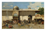 Oriental Market; Mercato Orientale Giclee Print by Alberto Pasini