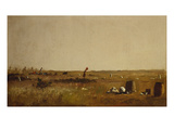 Study for Cranberry Pickers Giclee Print by J. Eastman Johnson