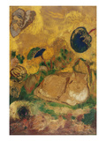Bazon: the Artist's Cat; Bazon: Le Chat De L'Artiste Prints by Odilon Redon