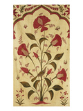 Fine and Important Kanat of Cotton, Printed and Painted with Bold Lilies with Perching Birds Art