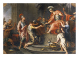 Liberality: Alexander the Great Rewarding His Captains Giclee Print by Francesco Fernandi