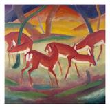 Red Deer; Rote Rehe 1 Impression giclée par Franz Marc