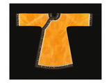 A Rare Tangerine Silk Informal Robe, the Orange Silk Woven with an Overall Pattern of Confronted… Premium Giclee Print
