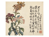 A Page (Flowers) from Flowers and Bird, Vegetables and Fruits Posters by Li Shan