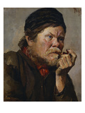 The Smoker Giclee Print by Vasilii Ivanovich Surikov