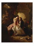 Scene Galante: an Indecent Proposal Giclee Print by Henri Guillaume Schlesinger