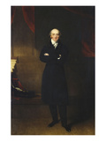 Portrait of George Canning, Small, Full-Length, Standing Wearing a Black Co Prints by Thomas Lawrence (Circle of)