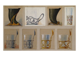 A Selection of Designs from the House of Faberge Including a Jug and Tea-Glass Holders Giclee Print