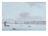 A View of St. Petersburg; the Winter Palace and the Neva River Premium Giclee Print by  Leperate