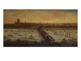 A Panoramic View of the River Thames and the City of London Taken from the  Prints by  English School