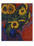 Sunflowers; Sonnenblumen Posters by Ernst Ludwig Kirchner