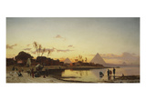 Sunset on the Nile, Cairo Giclée-Druck von Hermann Corrodi