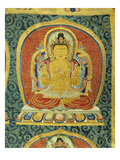 Detail of the Amogghasiddhi Buddha, from a Rare Large Imperial Embroidered Silk Thanka Posters
