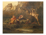 Ariel and Caliban Giclee Print by William Bell Scott