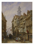 A Street in a Country Town Giclee Print by Louise J. Rayner