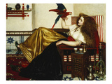 The Lady of the Tootni-Nameh; or the Legend of the Parrot Reproduction procédé giclée par Valentine Cameron Prinsep