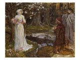 Dante and Beatrice Giclee Print by John William Waterhouse
