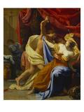 Tarquin and Lucretia Giclée-Druck von Simon Vouet (Circle of)