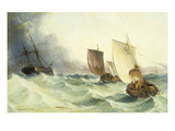 A Race for the Derelict Giclee Print by Arthur J. Meadows