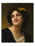 A Dark Beauty Poster by William Adolphe Bouguereau