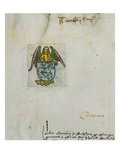 An Angel Holding a Coat of Arms Paraldus, Guilielmus Tubingen Prints