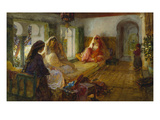 In the Seraglio Lmina gicle por Frederick Arthur Bridgman